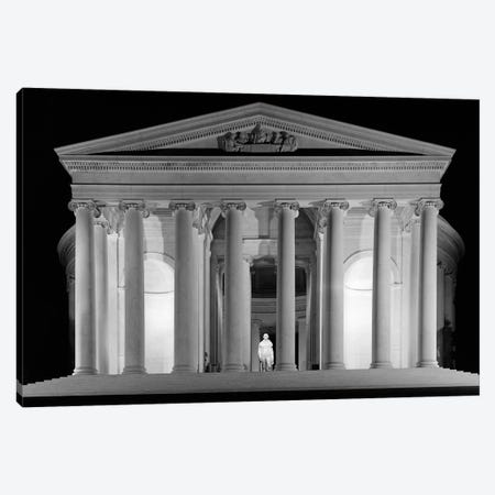 1960s Thomas Jefferson Memorial Lit Up At Night Canvas Print #VTG467} by Vintage Images Art Print