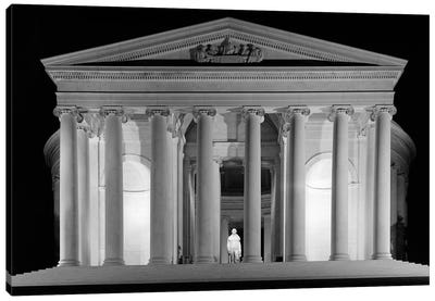 1960s Thomas Jefferson Memorial Lit Up At Night Canvas Art Print