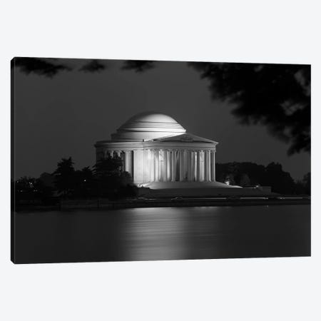 1960s Washington Dc Jefferson Memorial At Night Canvas Print #VTG470} by Vintage Images Art Print