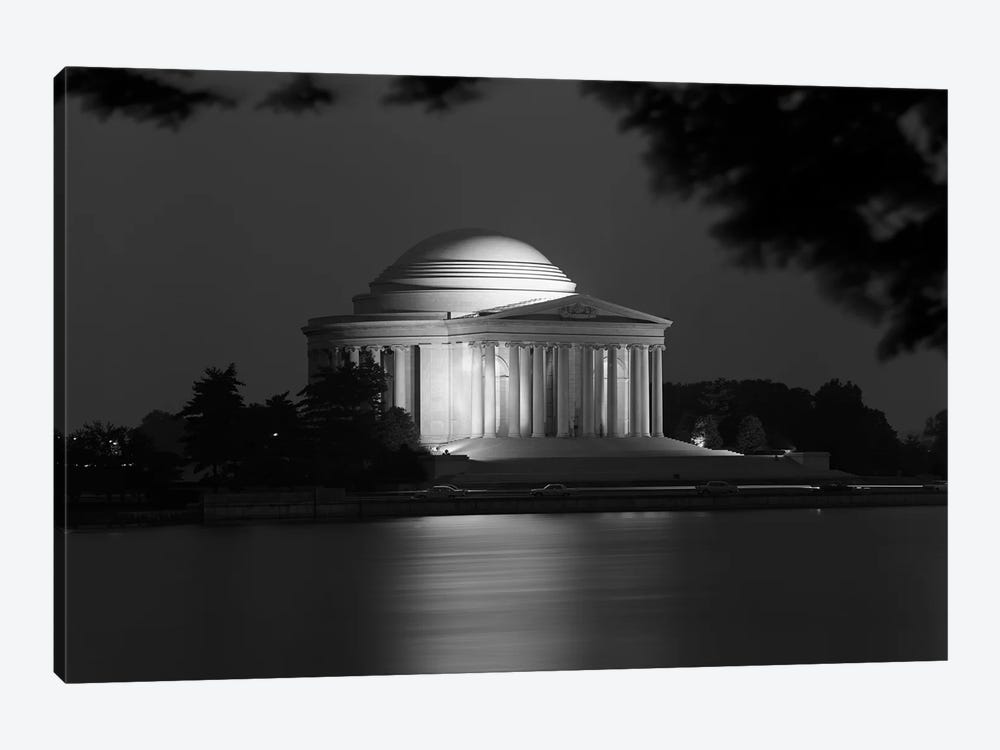 1960s Washington Dc Jefferson Memorial At Night by Vintage Images 1-piece Canvas Art
