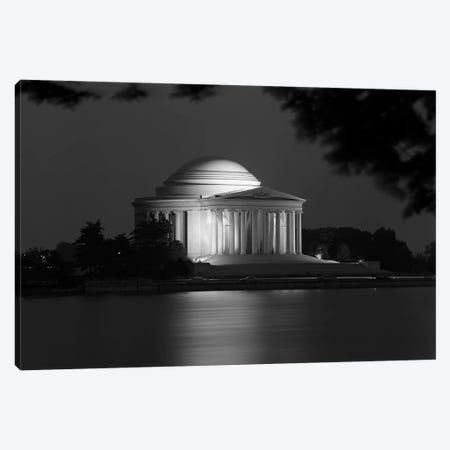 1960s Washington Dc Jefferson Memorial At Night Canvas Print #VTG470} by Vintage Images Art Print