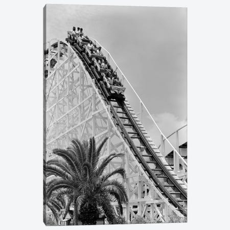 1960s Young People Riding Wooden Roller Coaster Canvas Print #VTG472} by Vintage Images Canvas Print
