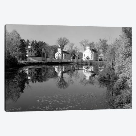 1960s-1950s Small Town White Public Buildings Around Lake Spring Church School Town Hall Washington NH USA Canvas Print #VTG474} by Vintage Images Canvas Art