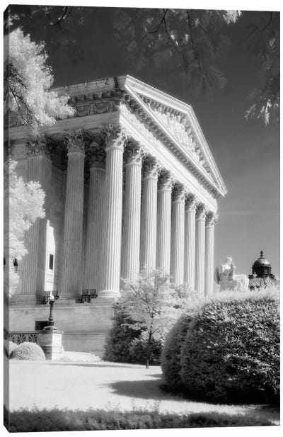 1970s Infrared Photograph Front Of Supreme Court Building Washington Dc USA Canvas Art Print