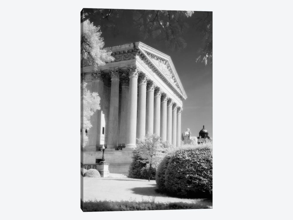 1970s Infrared Photograph Front Of Supreme Court Building Washington Dc USA by Vintage Images 1-piece Canvas Print