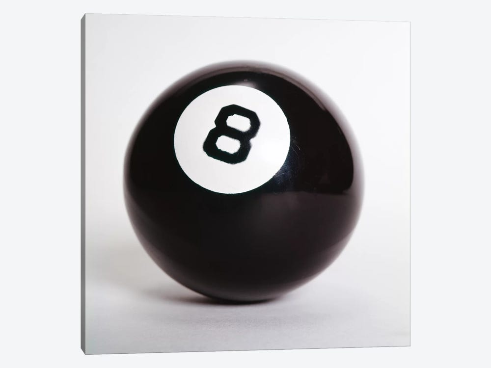 1970s Pool Billiard Ball Eight Ball by Vintage Images 1-piece Canvas Artwork
