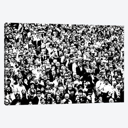 1970s Posterization Of Crowd In Stadium Bleachers Canvas Print #VTG488} by Vintage Images Canvas Art