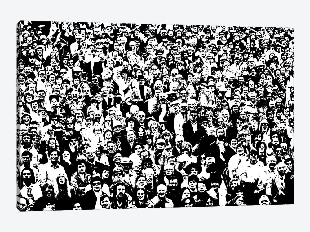 1970s Posterization Of Crowd In Stadium Bleachers by Vintage Images 1-piece Art Print