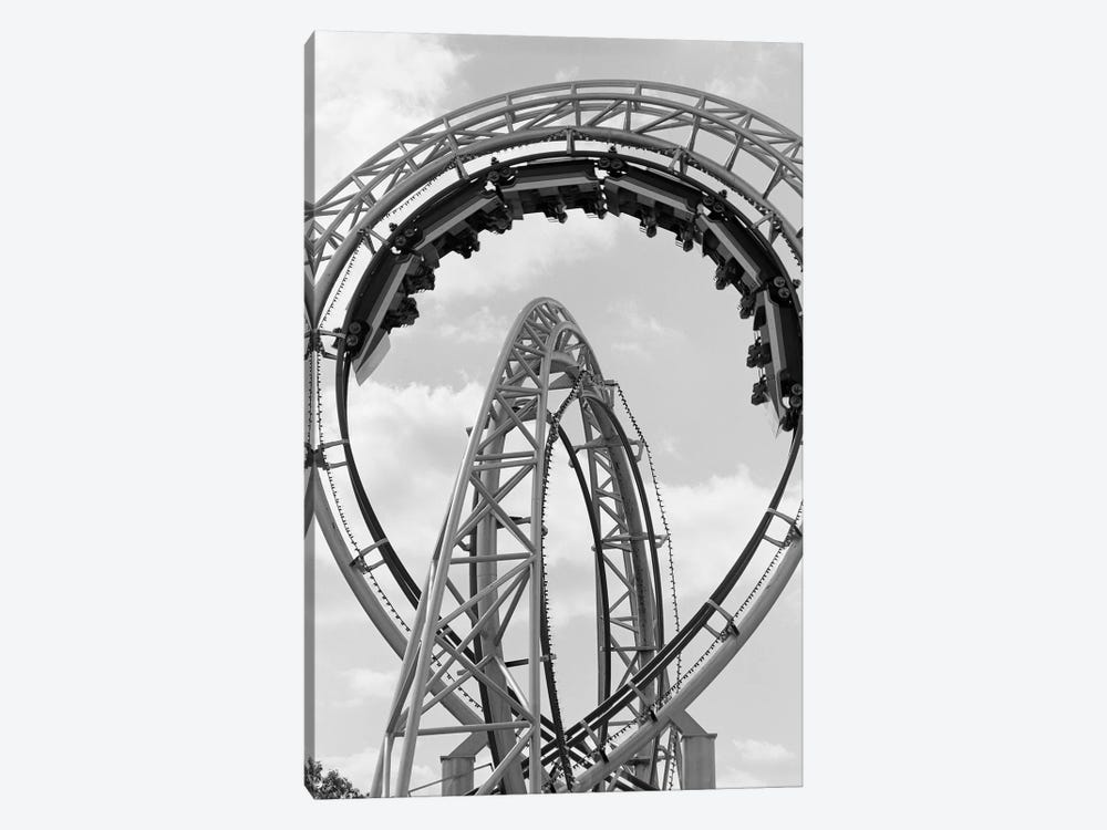 1970s Roller Coaster Amusement Park Ride by Vintage Images 1-piece Canvas Wall Art