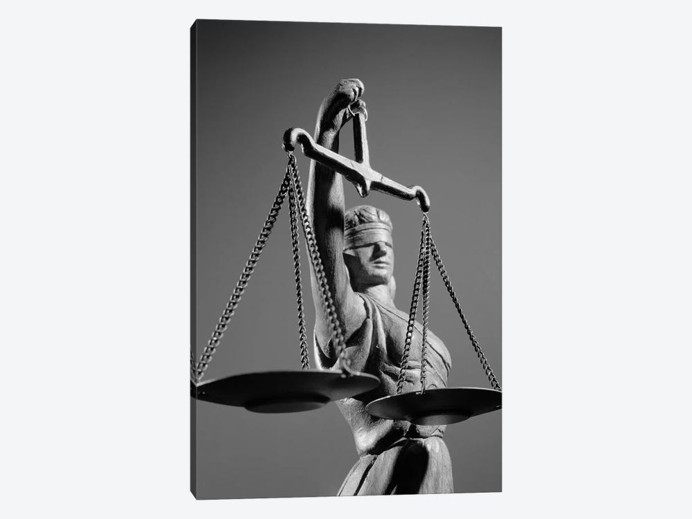 1970s Statue Of Blind Justice Holding Scales by Vintage Images 1-piece Canvas Art
