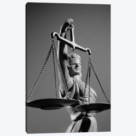 1970s Statue Of Blind Justice Holding Scales Canvas Print #VTG492} by Vintage Images Art Print