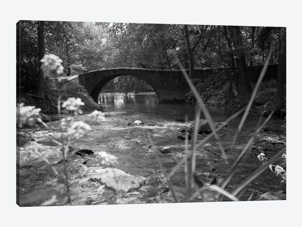 1970s Stream With Stone Bridge In Wooded Area by Vintage Images 1-piece Canvas Print
