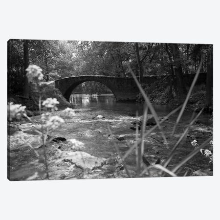 1970s Stream With Stone Bridge In Wooded Area Canvas Print #VTG493} by Vintage Images Canvas Print