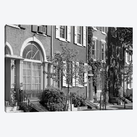 1970s Street Scene Residential Townhouses In Urban Inner City Philadelphia Pa USA Canvas Print #VTG494} by Vintage Images Canvas Wall Art