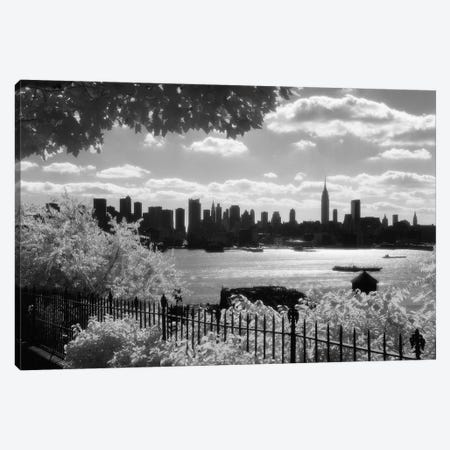 1970s View Of Midtown Manhattan Skyline Silhouette From New Jersey New York City New York USA Canvas Print #VTG495} by Vintage Images Canvas Artwork