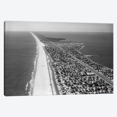 1970s-1980s Aerial Of Jersey Shore Barnegat Peninsula Barrier Island Seaside Park New Jersey USA Canvas Print #VTG497} by Vintage Images Canvas Artwork