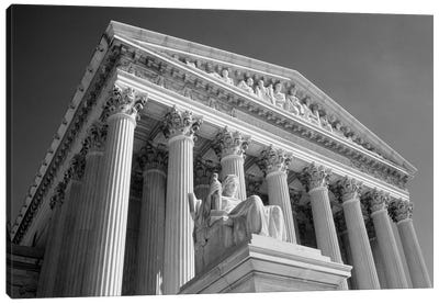 1980s Federal Supreme Court Building Low Angle Front Shot Washington Dc USA Canvas Art Print