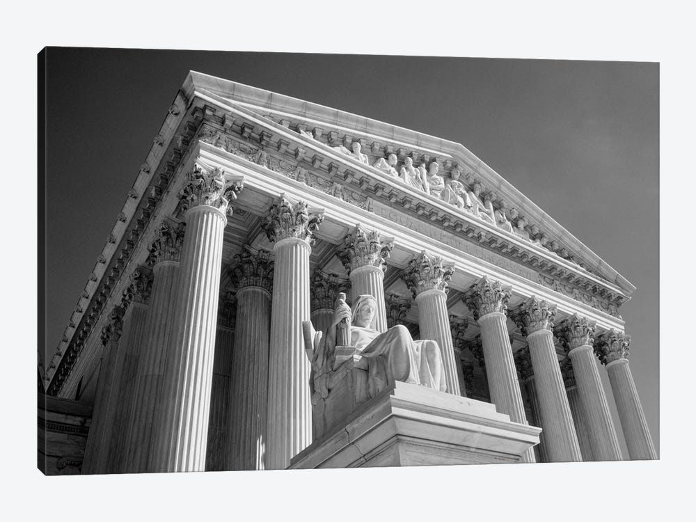 1980s Federal Supreme Court Building Low Angle Front Shot Washington Dc USA by Vintage Images 1-piece Canvas Artwork