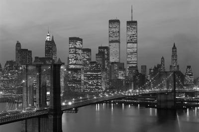 Black Framed Scenic Picture Wall Art Prints New York City Skyline Retro