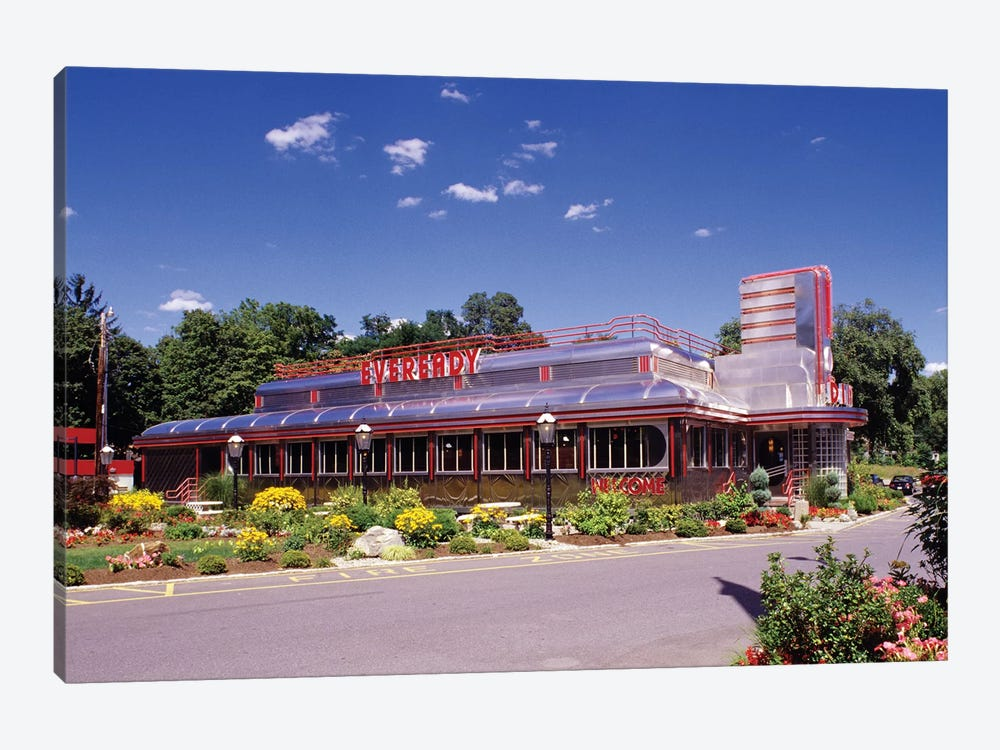 1990s Classic Art Deco Style Diner Hyde Park NY USA by Vintage Images 1-piece Canvas Art Print