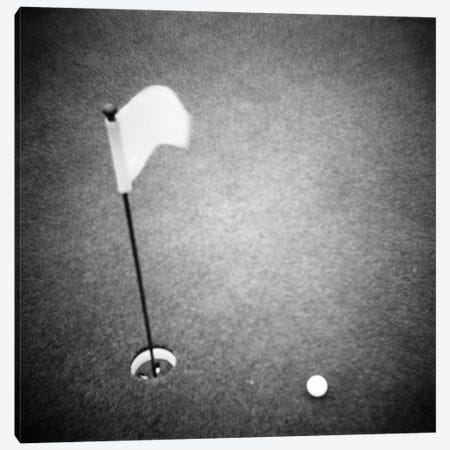 2000s Golf Ball On Putting Green With Flag Marker In Hole From Above Canvas Print #VTG509} by Vintage Images Canvas Print