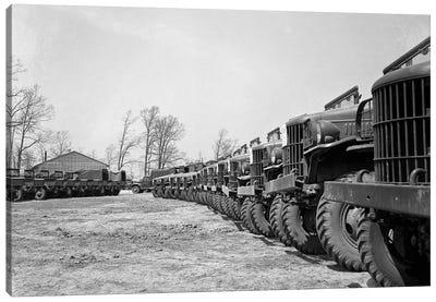 April 19 1941 Alignment Row Rows Dodge Army Trucks Jeeps Fort Dix NJ Canvas Art Print