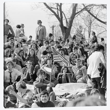 April 22 1970 Crowd Attending The First Earth Day Celebration Fairmont Park Philadelphia Pennsylvania USA Canvas Print #VTG513} by Vintage Images Canvas Artwork