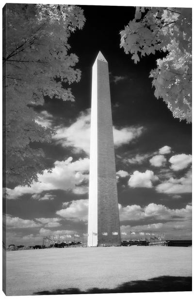 Infrared Photograph Of Washington Monument Washington Dc USA Canvas Art Print