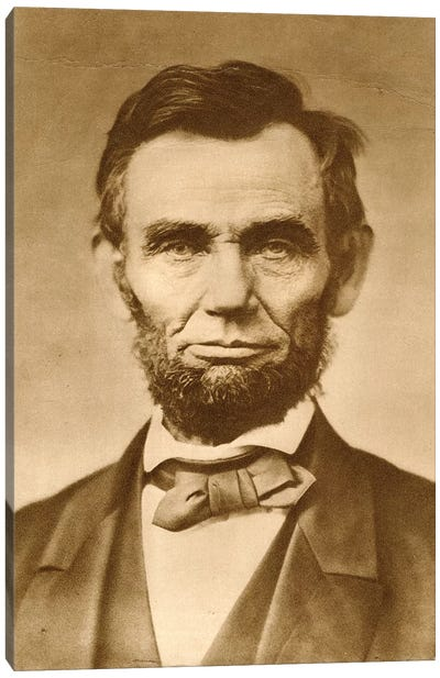 November 1863 Photograph Portrait Of Abraham Lincoln By Gardner Canvas Art Print