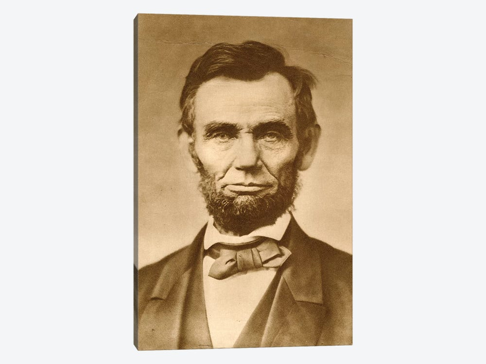 November 1863 Photograph Portrait Of Abraham Lincoln By Gardner by Vintage Images 1-piece Canvas Art