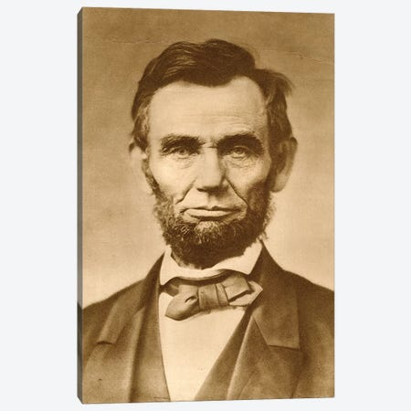November 1863 Photograph Portrait Of Abraham Lincoln By Gardner Canvas Print #VTG528} by Vintage Images Canvas Art Print