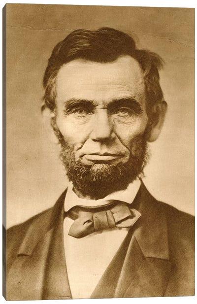 November 1863 Photograph Portrait Of Abraham Lincoln By Gardner Canvas Art Print