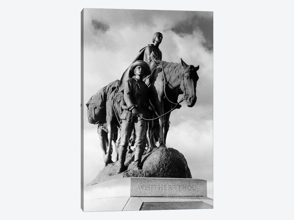 Statue Of Pioneer Woman Holding Baby On Horse Led By Husband In Penn Valley Park Kansas City Missouri USA Dedicated 1927 by Vintage Images 1-piece Art Print