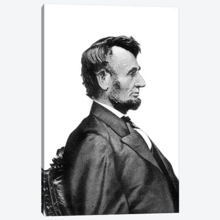 1860s Profile Portrait President Abraham Lincoln Likeness That Appears On Lincoln Penny By Mathew Brady Canvas Print #VTG535} by Vintage Images Canvas Art Print