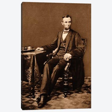 1863 Portrait Of 16th President Abraham Lincoln Canvas Print #VTG536} by Vintage Images Canvas Print