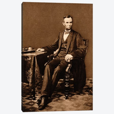 1863 Portrait Of 16th President Abraham Lincoln Canvas Print #VTG536} by Vintage Images Canvas Print