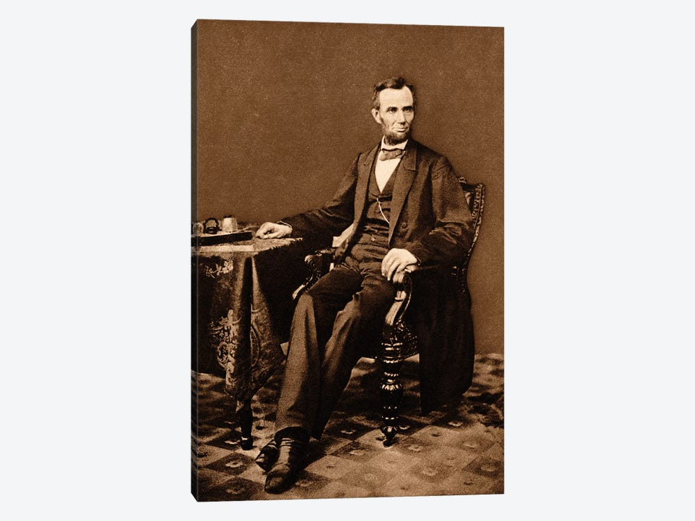 1863 Portrait Of 16th President Abraham Lincoln by Vintage Images 1-piece Canvas Print