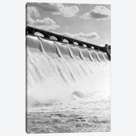 1940s Spillway Of The Grand Coulee Dam Washington State 3-Piece Canvas #VTG551} by Vintage Images Canvas Art
