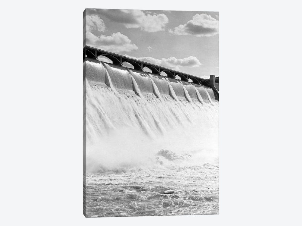 1940s Spillway Of The Grand Coulee Dam Washington State by Vintage Images 1-piece Canvas Wall Art