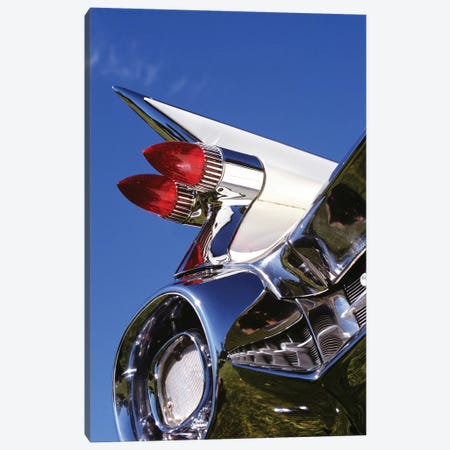 1950s Close-Up Of Fins And Taillights On Classic Car Canvas Print #VTG558} by Vintage Images Canvas Art