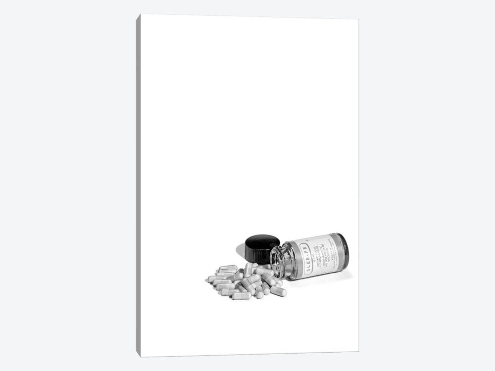 1950s Pill Bottle On Its Side Next To Pile Of Capsules by Vintage Images 1-piece Canvas Art Print