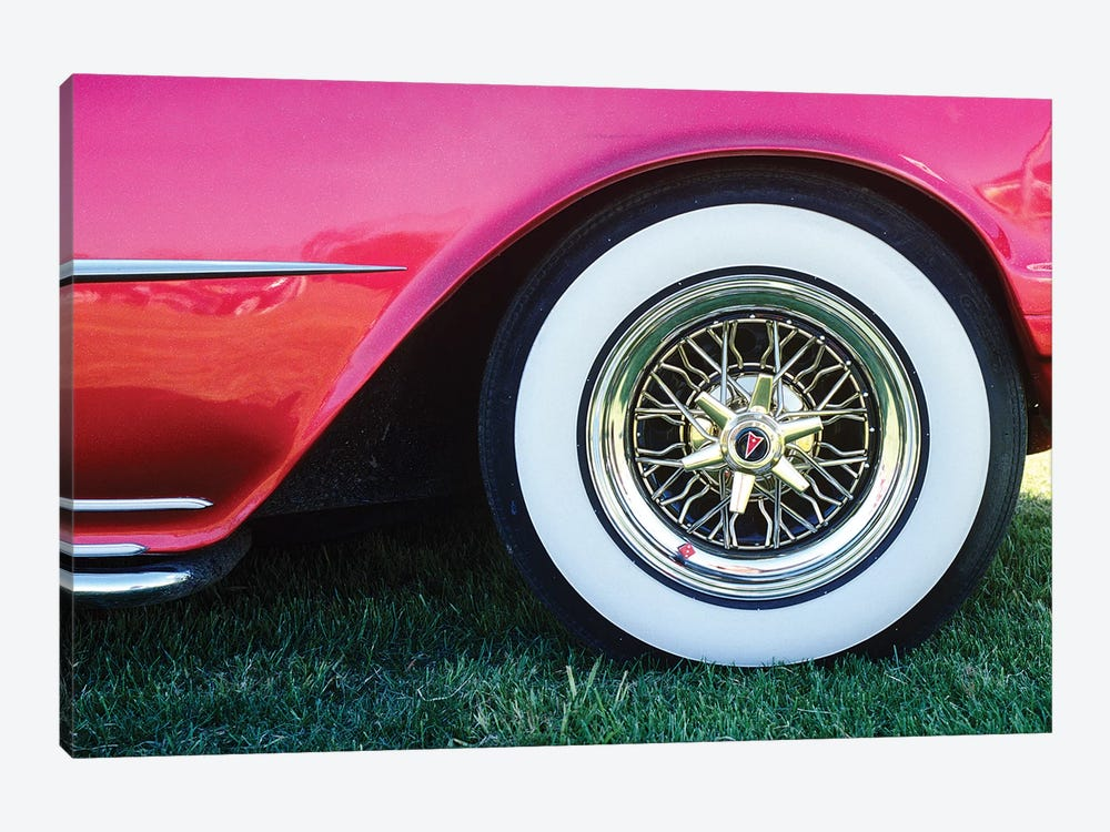 1950s Pontiac Whitewall Tire Detail by Vintage Images 1-piece Canvas Artwork