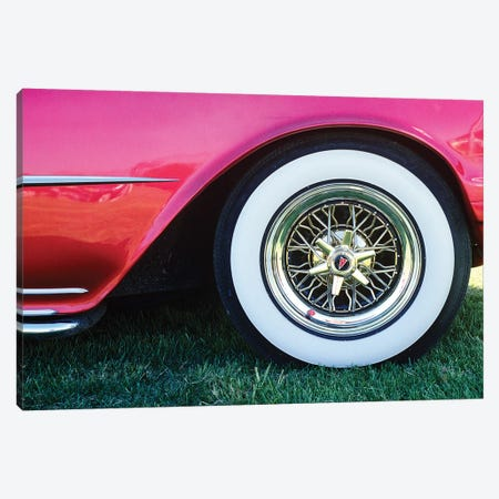 1950s Pontiac Whitewall Tire Detail 3-Piece Canvas #VTG566} by Vintage Images Canvas Art