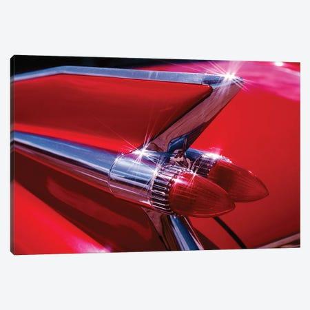 1950s Red Cadillac Car Fender Tail Fins Classic Antique Automobile Canvas Print #VTG568} by Vintage Images Canvas Art Print