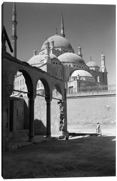 1920s-1930s Cairo Egypt Architectural View Of The Muhammad Ali Alabaster Mosque In The Citadel Built In 1840s Canvas Art Print