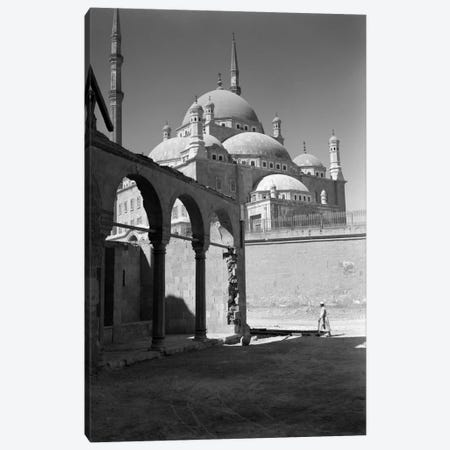 1920s-1930s Cairo Egypt Architectural View Of The Muhammad Ali Alabaster Mosque In The Citadel Built In 1840s Canvas Print #VTG58} by Vintage Images Art Print