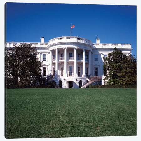 1970s The White House Washington DC, USA Canvas Print #VTG596} by Vintage Images Art Print