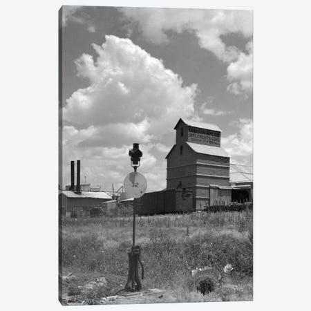 1920s-1930s Canadian Texas Panhandle Grain Elevator Nearby Railroad Switch Point Indicator And Lamp Canvas Print #VTG59} by Vintage Images Canvas Print
