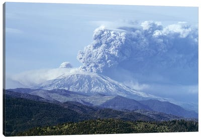 1980s Volcano Mount Saint Helens Erupting May 18, 1980 Washington USA Canvas Art Print