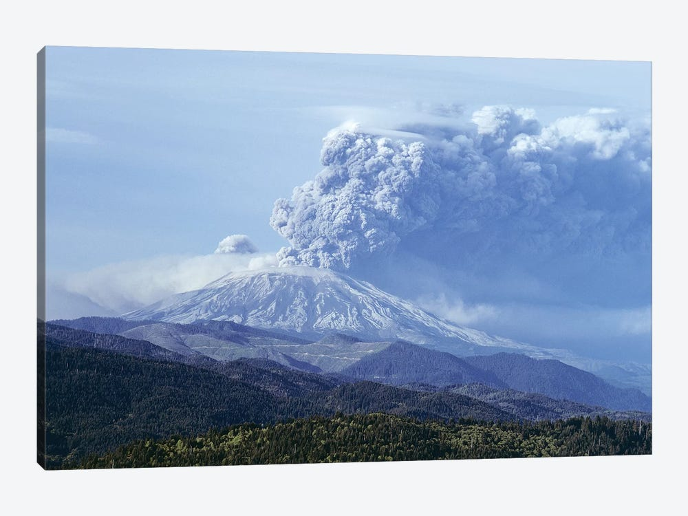 1980s Volcano Mount Saint Helens Erupting May 18, 1980 Washington USA by Vintage Images 1-piece Canvas Art